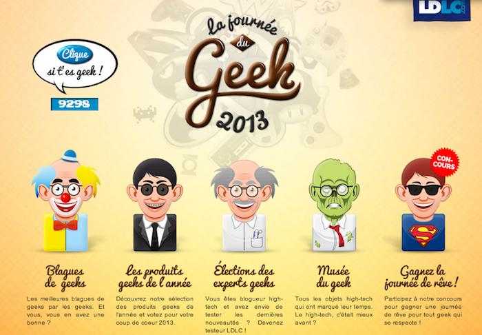 LDLC propose un site dédié à la journée des geeks