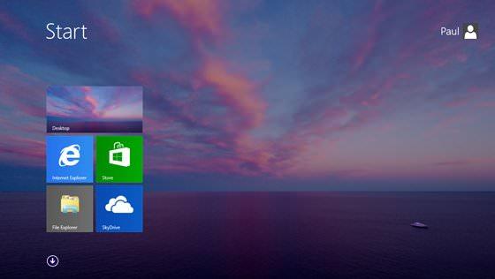L'écran d'accueil de Windows 8 disposera également de votre propre fond d'écran