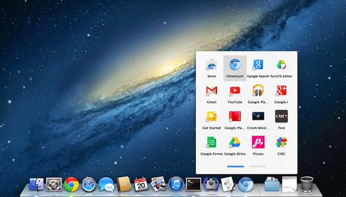 Google apporte le lanceur d'applications de Chrome OS sur OS X, télécharger la version bêta