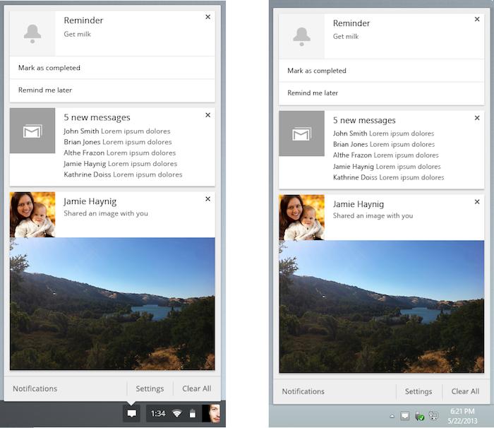Il sera possible d'empiler les notifications sous la forme de cartes, comme dans Google Now