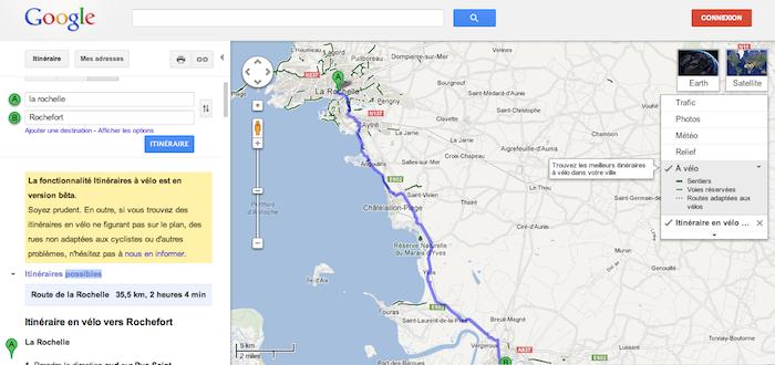 Google Maps lance la navigation en vélo pour davantage de pays européens, et notamment en France