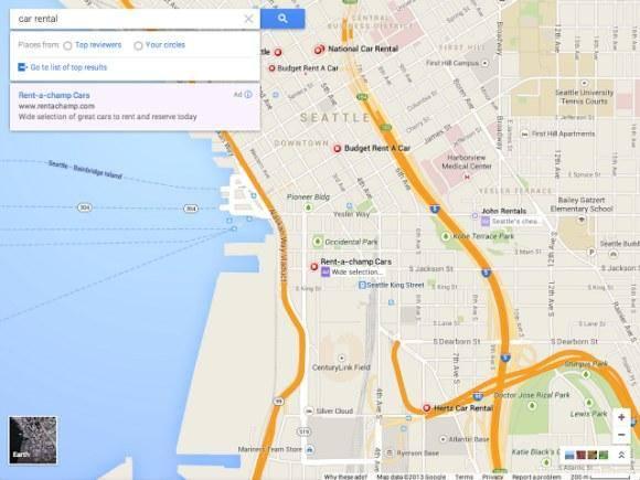 Des cartes permettent de visualiser désormais vos informations sur Google Maps