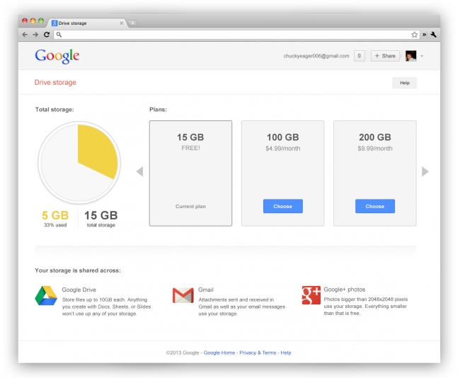 Google triple votre stockage sur le cloud gratuitement passant à 15 Go