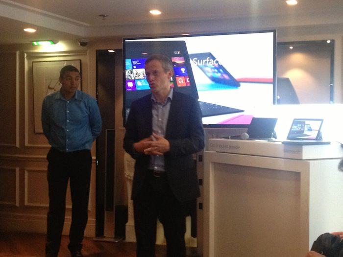 Présentation de la Surface Pro à l'Hôtel W