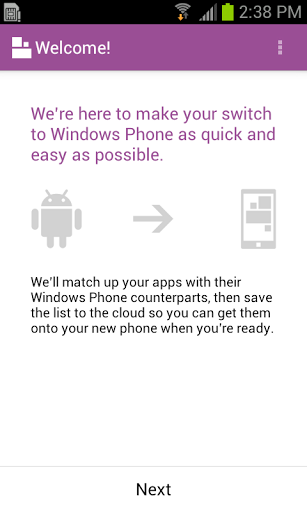 L'application Switch to Windows Phone incite à la colère des fans d'Android