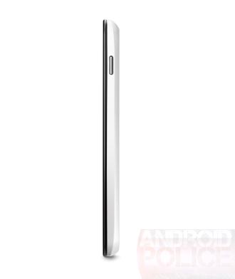 Vue du Nexus 4 blanc de côté