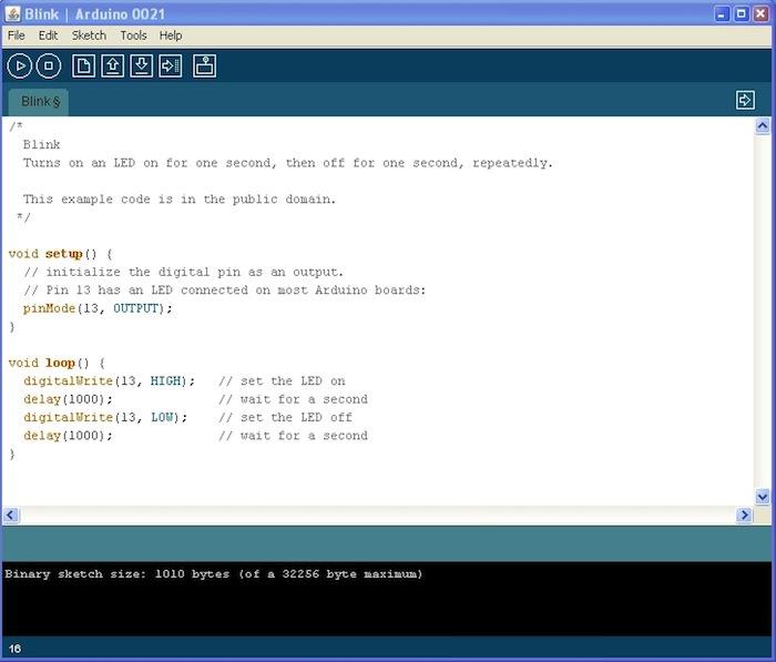 L'IDE Arduino 1.0.5 est dans les bacs