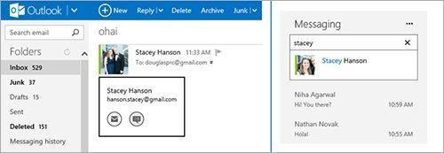 Accès à Gchats depuis les applications Microsoft
