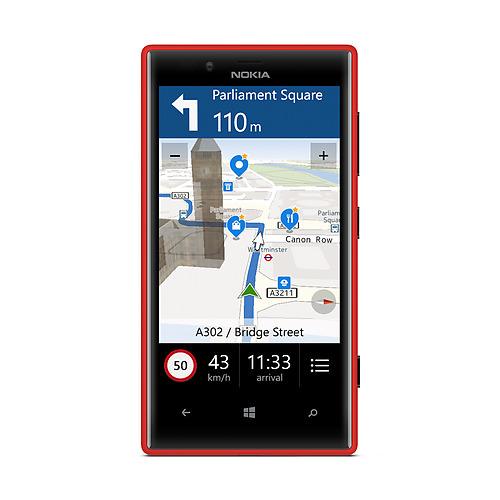 Une gamme d'applications Nokia est embarquée dans le Lumia 720