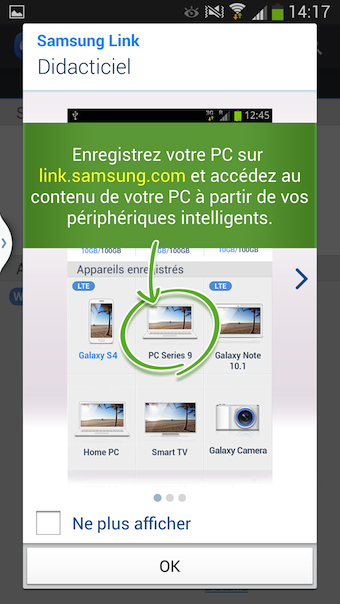 Possibilité de se connecter aux autres dispositifs Samsung