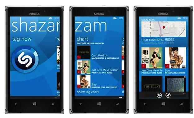 Shazam arrive sur Windows Phone 8, et s'intègre avec Xbox et Nokia Musique