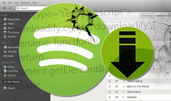 Spotify bouche une faille sur Chrome évitant le téléchargements en MP3 avec Downloadify