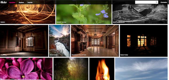 Flickr dispose d'une page d'accueil repensée avec des images en haute résolution