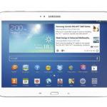Vue de face de la Galaxy Tab 3 de 10,1 pouces