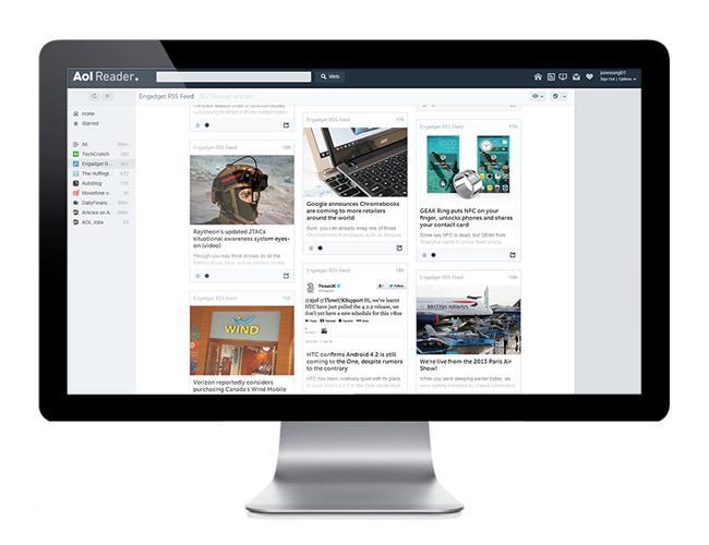 AOL Reader se démarque de la conception de Digg Reader