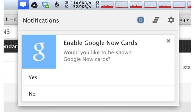 Des cartes de Google Now ont été repérées dans Chrome