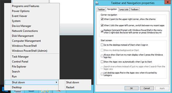 Le bouton Démarrer de Windows 8.1 sert aussi de bouton d'alimentation (en quelque sorte)