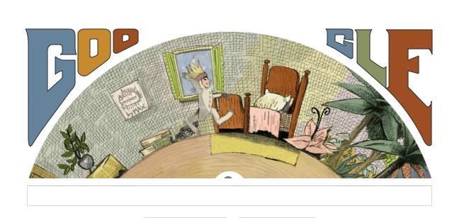 Maurice Sendak en doodle du jour pour son 85ème anniversaire