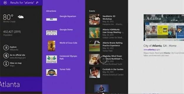 La recherche va en plus de vos résultats internes, chercher dans Bing