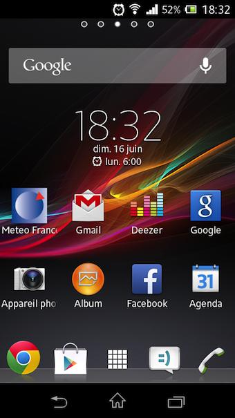 Des applications Sony arrivent pré-chargées dans le Xperia M