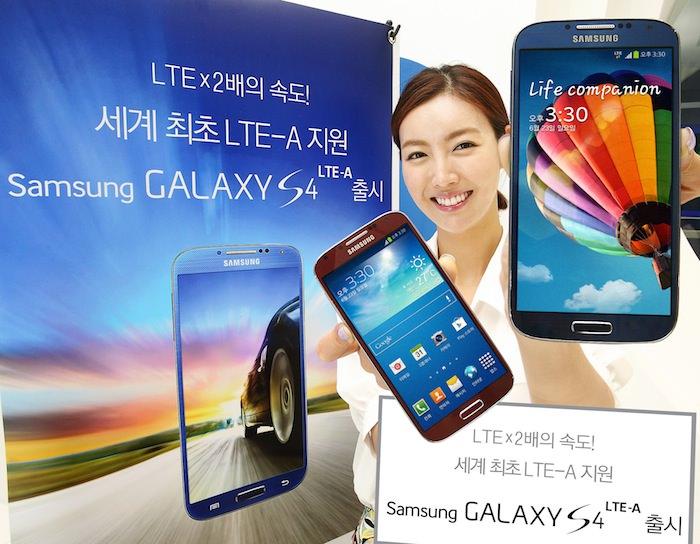 Samsung accélère le Galaxy S4 avec connectivité LTE-A et une puce Snapdragon 800