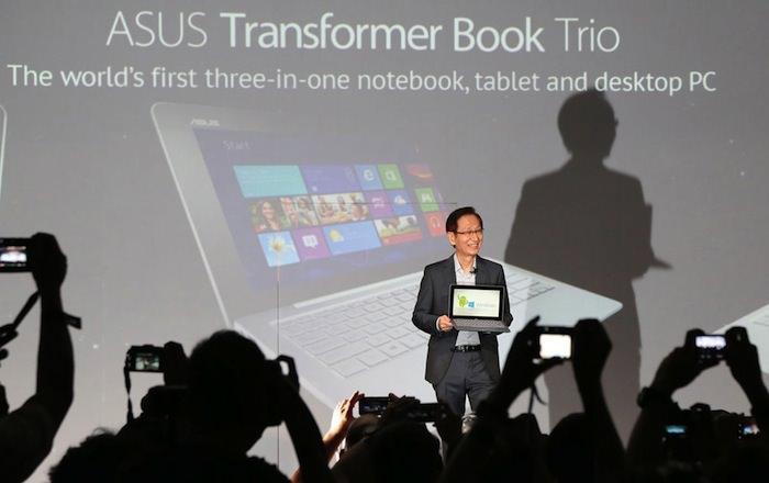 Asus vient de dévoiler un dispositif très étrange : le Transformer Book Trio