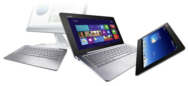 Transformer Book Trio : tablette, ordinateur portable/bureau exécutant à la fois Android et Windows 8