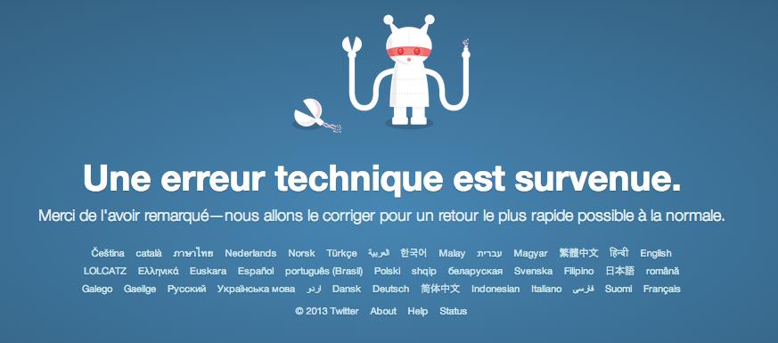 Twitter est down et indisponible un peu partout !