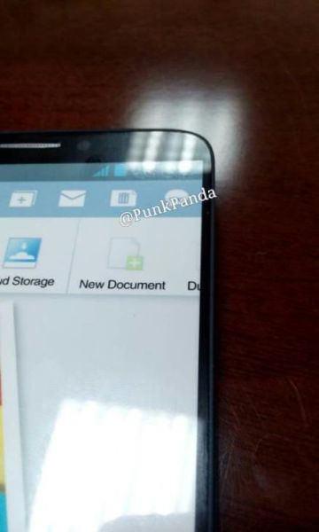 Vue de face du pré-supposé Galaxy Note 3