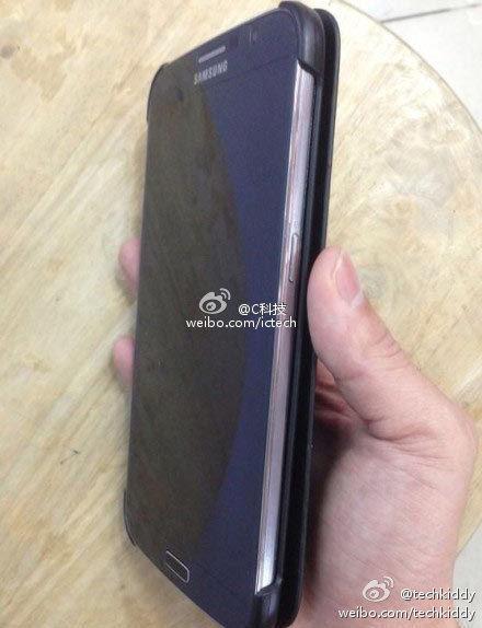 Vue de 3/4 du pré-supposé Galaxy Note 3