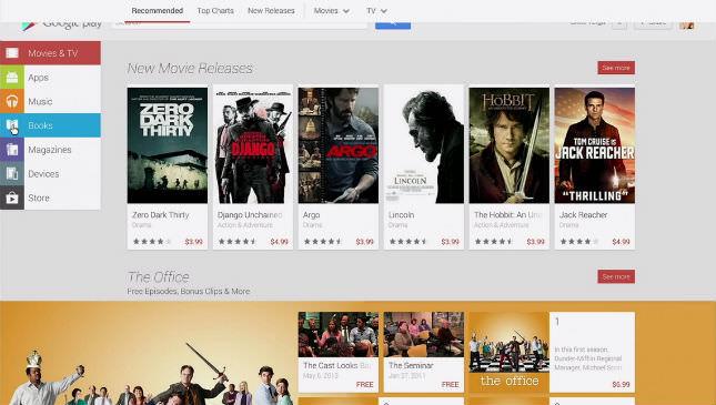 Une nouvelle version Web du Play Store est actuellement en cours de test chez Google