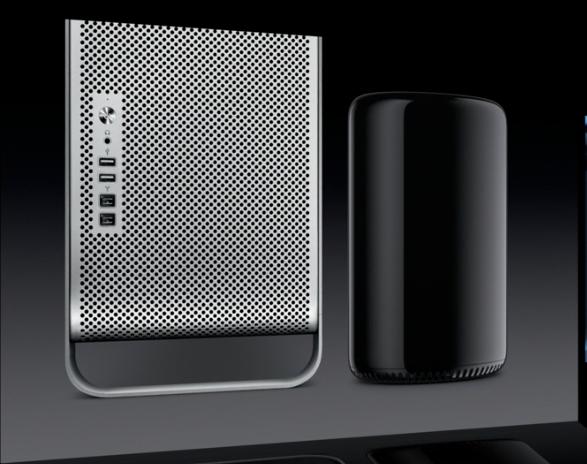 Le Mac Pro actuel versus le nouveau Mac Pro dévoilé lors de la WWDC 2013