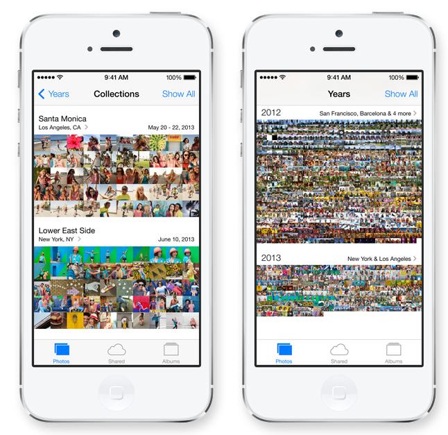 L'application Photos permet de classer vos photos et vidéos en fonction de vos collections, des lieux et des années