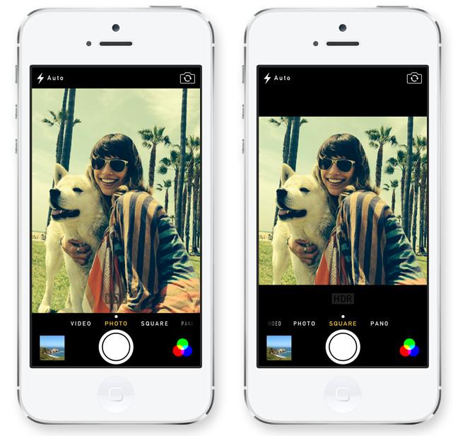Des filtres peuvent être appliqués sur les photos
