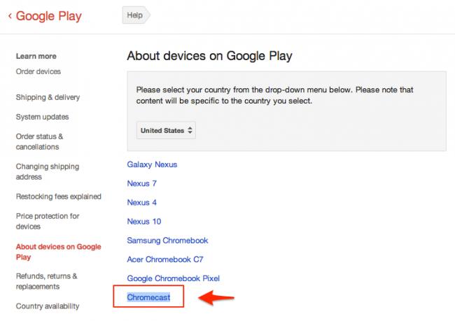 Un mystérieux 'Chromecast' a fait son apparition sur le Google Play Store