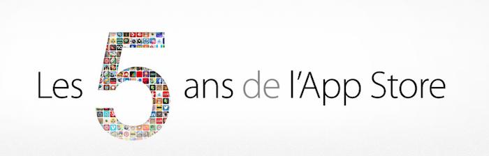 Les 5 ans de l'App Store