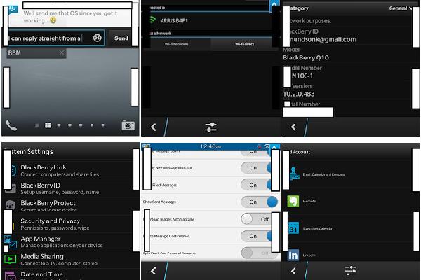 BlackBerry 10.2 apportera des menus repensés, le Wi-Fi Direct et les actions de notification