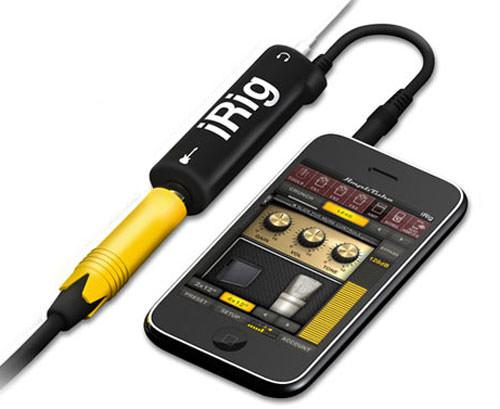 Sur un iPhone, il faudra davantage passer par un câble dédié à la musique comme l'AmpliTube iRig