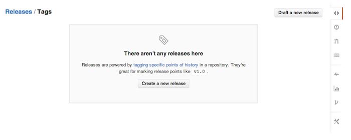 Il est désormais possible de réaliser une release de votre projet GitHub