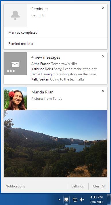 L'arrivée des notifications Chrome au sein de Windows