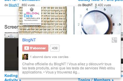 Affichage de la liste de personnes de vos cercles Google+ qui ont souscrit à la chaîne