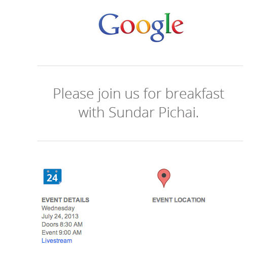 Google tiendra une conférence de presse avec le responsable Android et Chrome le 24 juillet