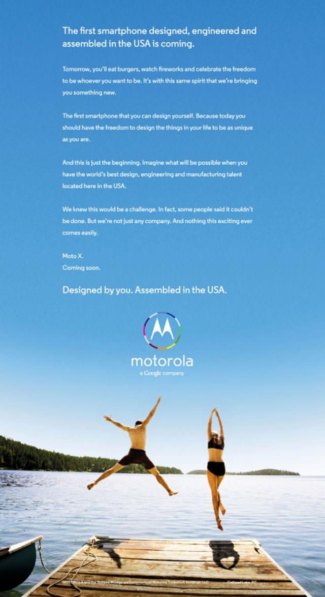 Le mystérieux Moto X de Motorola est le premier smartphone que vous pouvez concevoir vous-même
