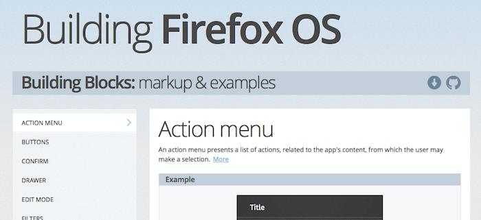 Firefox Building Bocks permet de disposer d'un exemple, du code source d'un composant