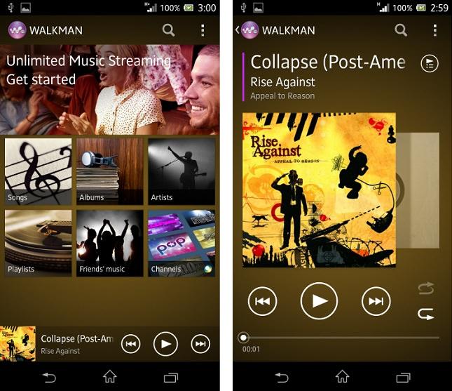 L'application Walkman devrait intégrer Music Unlimited