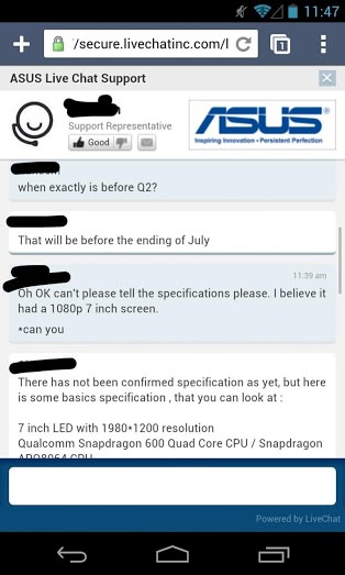 Discussion employé Asus - client - 2
