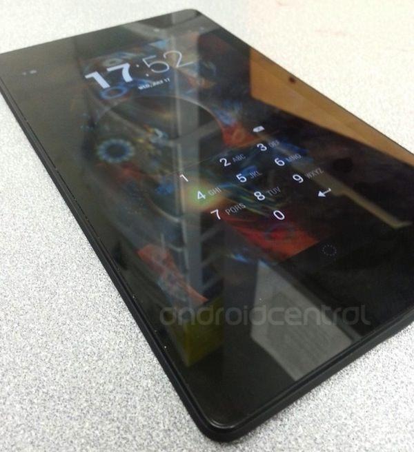 Vue de face de la nouvelle Nexus 7