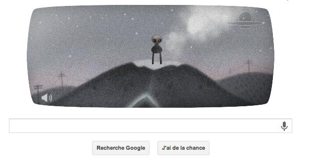 Vous incarnez un alien dans ce doodle intéractif