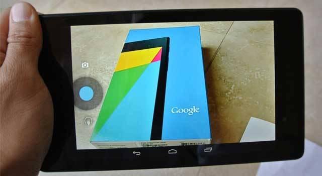 La nouvelle Nexus 7 dispose d'un appareil photo de 5 mégapixels à l'arrière de la tablette