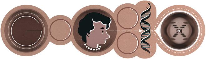 Rosalind Franklin célébrée dans le doodle du jour